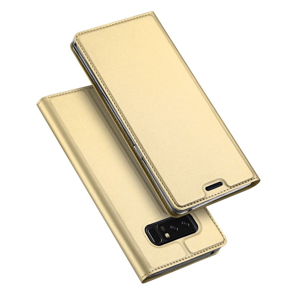 Image of   Galaxy Note 8 - DUX DUCIS Skin Pro læder cover - Guld