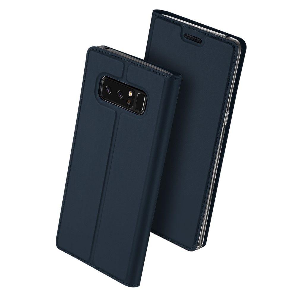 Image of   Galaxy Note 8 - DUX DUCIS Skin Pro læder cover - Mørkeblå