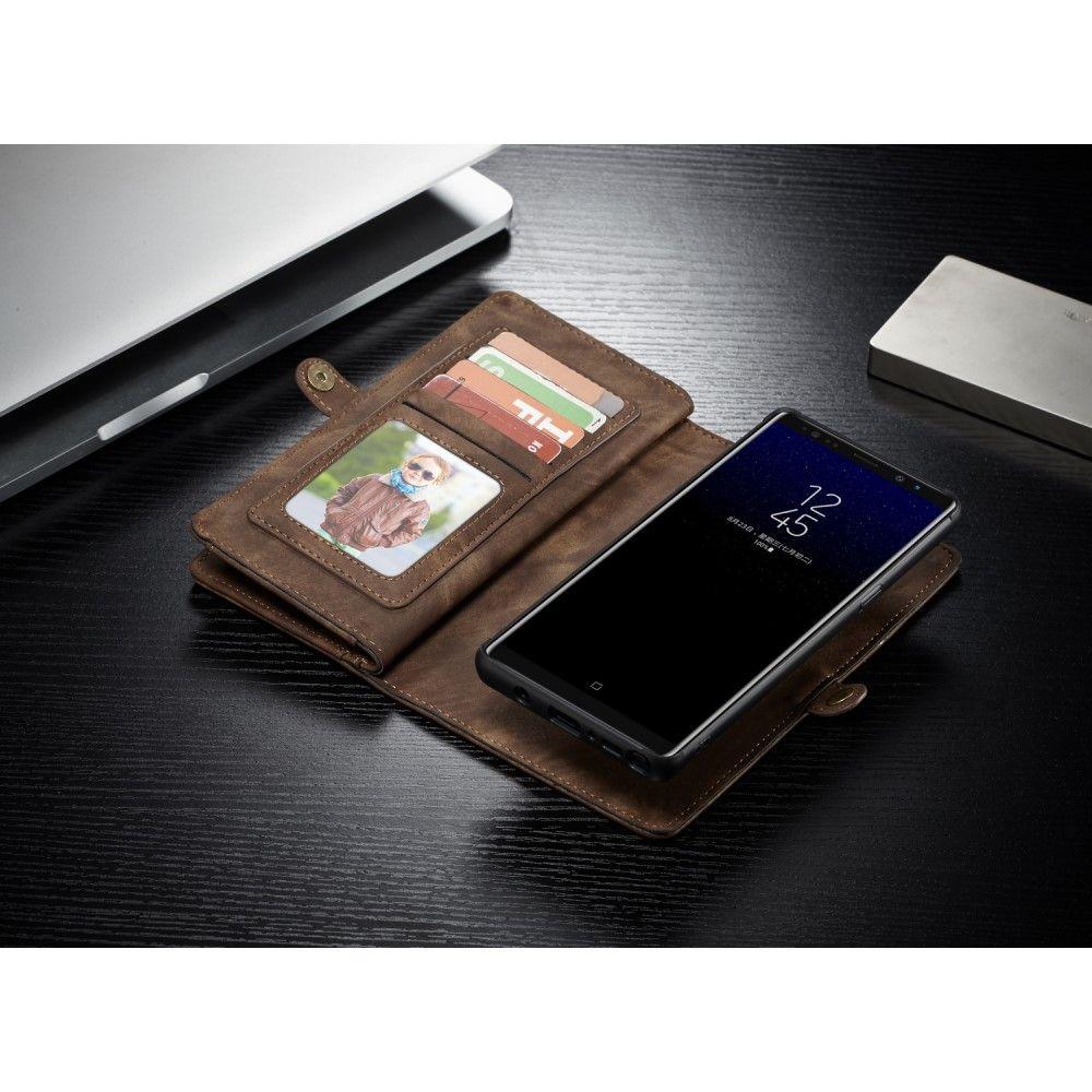 Image of   Galaxy Note 8 CASEME Vintage 2-i-1 split læder pung - Brun