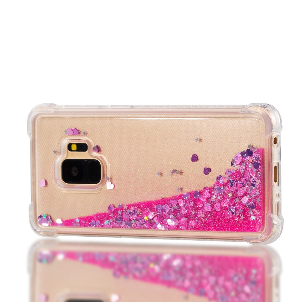 Samsung Galaxy S9 - Dynamic Glitter shockproof gummi cover - Rosa