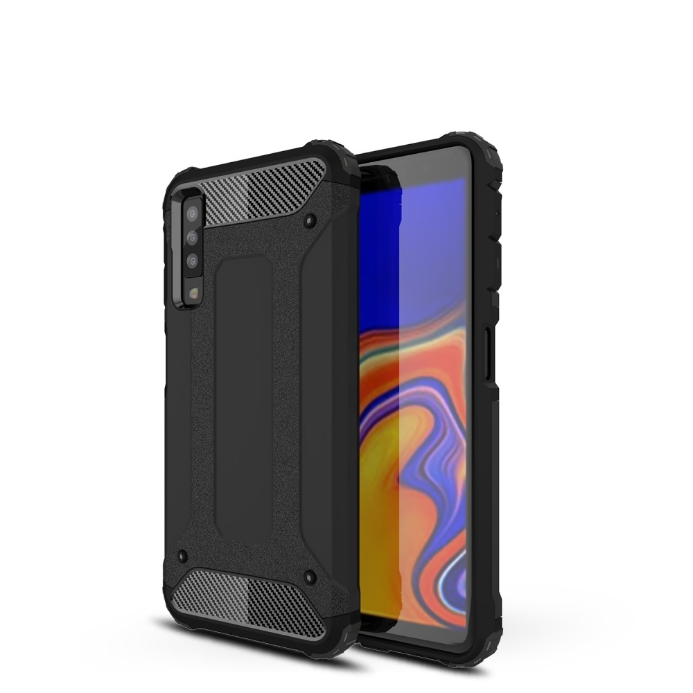 Image of   Samsung Galaxy A7 (2018) - Armor Guard Hybrid cover - Sort