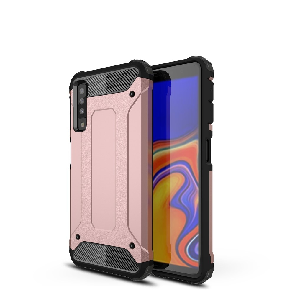 Image of   Samsung Galaxy A7 (2018) - Armor Guard Hybrid cover - Rosa guld