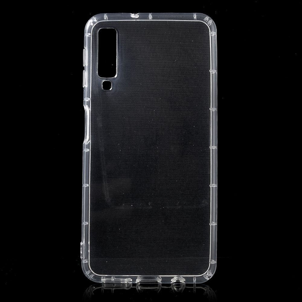 Image of   Samsung Galaxy A7 (2018) - Shockproof gummi cover/etui - Transparent