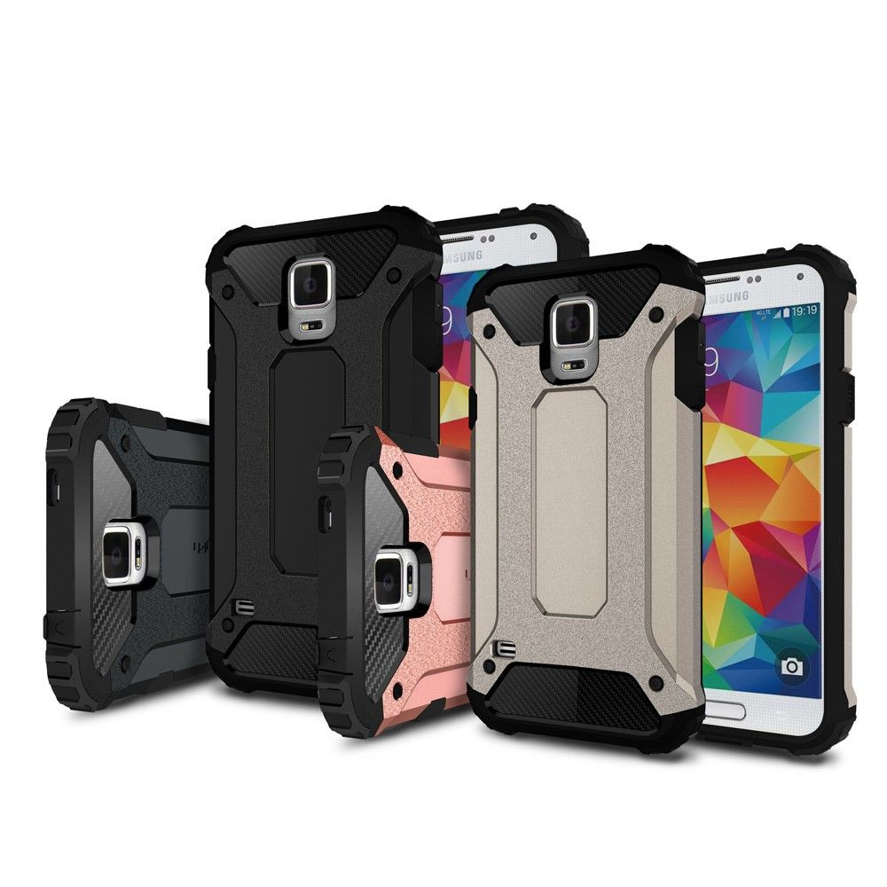 Image of   Galaxy S5 - ARMOR Hybrid PC+TPU cover - Sort