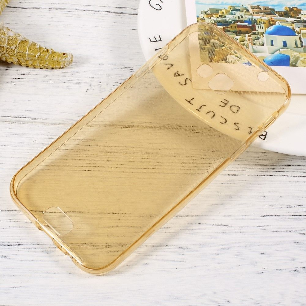 Galaxy A7 (2017) - TPU cover front + bagside - Guld