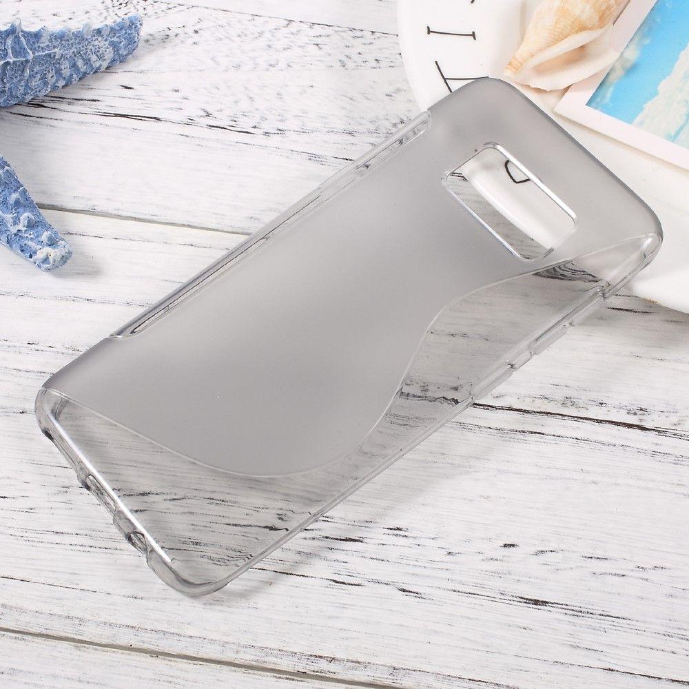 Image of   Galaxy S8 - TPU gummi Cover/Etui med S-Line mønster - Grå