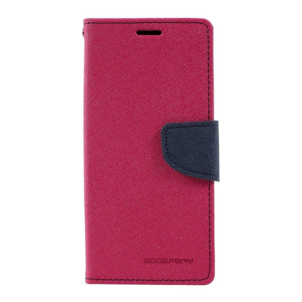 Image of   Galaxy S8 - Pu læder cover m/stand MERCURY GOOSPERY - Rød