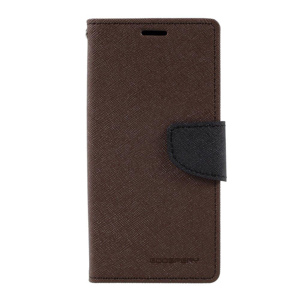 Image of   Galaxy S8 - Pu læder cover m/stand MERCURY GOOSPERY - Brun