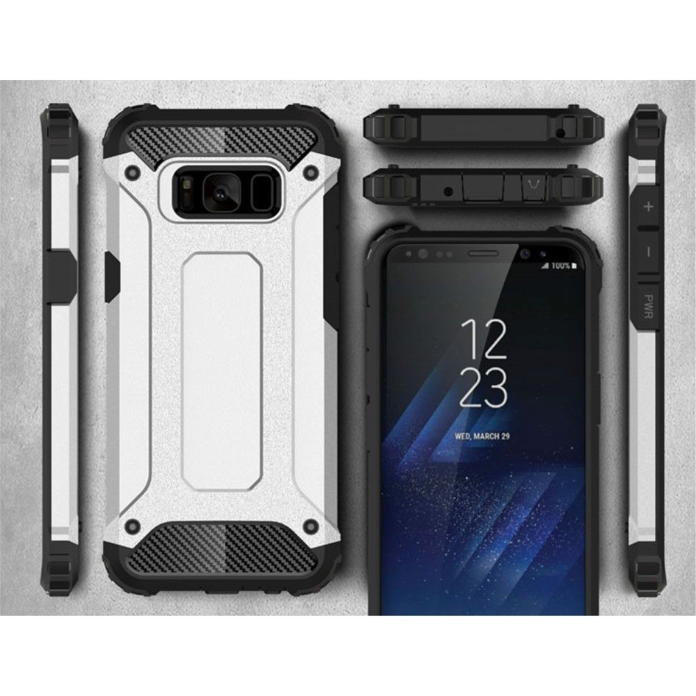 Image of   Galaxy S8 - TPU + plast hybrid cover Armor Guard - Sølv