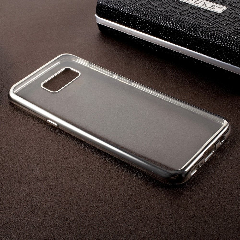 Image of   Galaxy S8 Plus - TPU ultratyndt gel Etui/cover - Sølv/Transparent