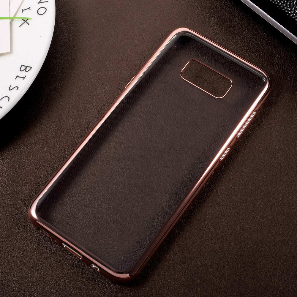 Image of   Galaxy S8 Plus - TPU ultratyndt gel Etui/cover - Rose Guld/Transparent