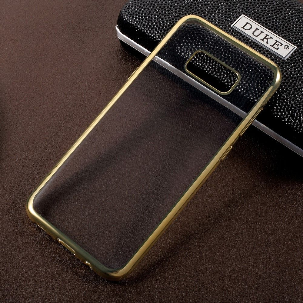 Image of   Galaxy S8 Plus - TPU ultratyndt gel Etui/cover - Guld/Transparent