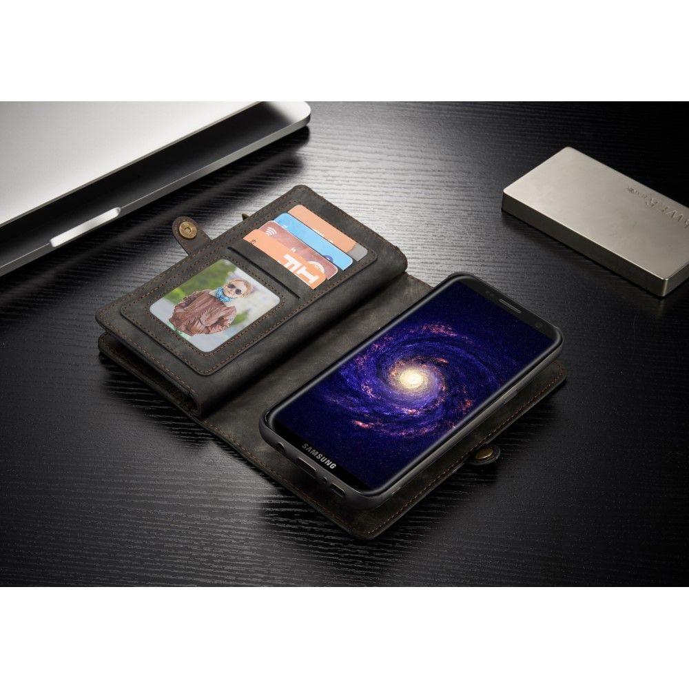 Image of   Galaxy S8 Plus - CASEME Retro Split læder 2-i-1 pung - Grå