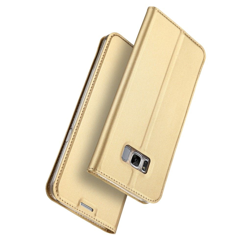 Image of   Galaxy S8 - DUX DUCIS skin pro series læder cover - Guld