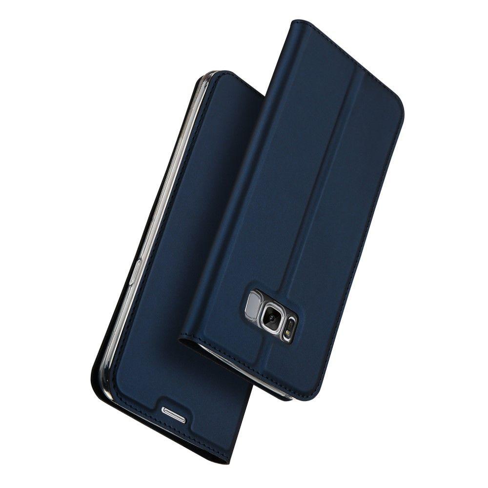 Image of   Galaxy S8 - DUX DUCIS Skin pro series læder cover - Mørkeblå