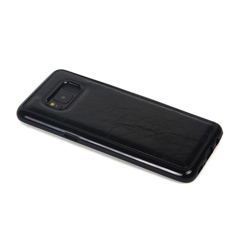 Galaxy S8 Plus - Crazy Horse 2-i-1 læder cover - Sort