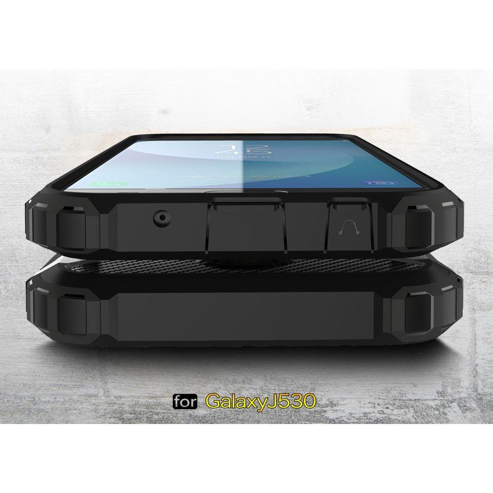 Image of   Galaxy J5 (2017) - TPU + pc hybrid cover Armor Guard - Sort