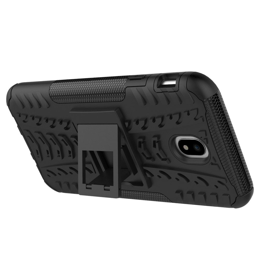 Image of   Galaxy J7 (2017) - TPU+pc cover m/kickstand - Sort