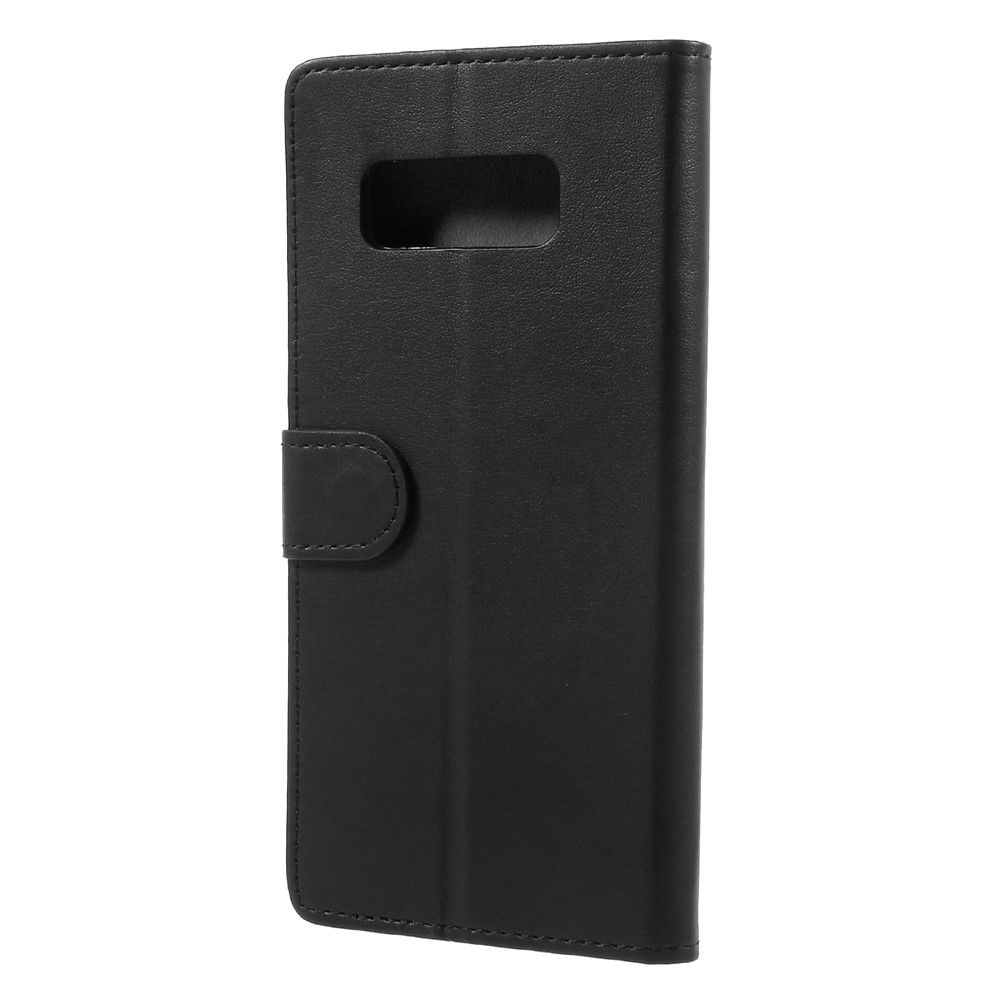 Image of   Galaxy Note 8 - Pu læder cover m/kortslots - Sort