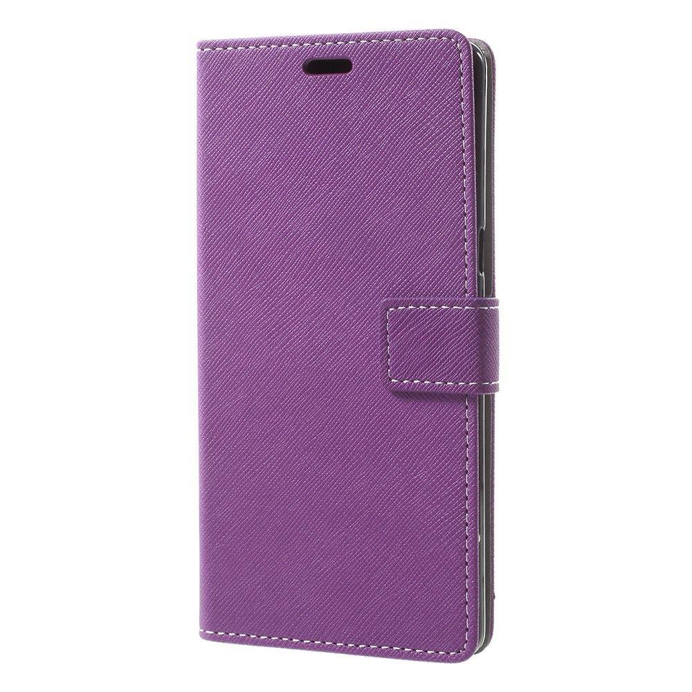 Image of   Galaxy Note 8 - Pu læder cover m/kryds tekstur - Lilla