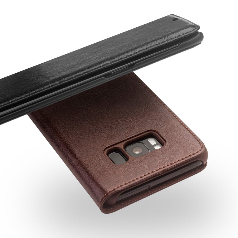 Image of   Galaxy S8 - QIALINO Classic ægte læder etui / cover - Sort