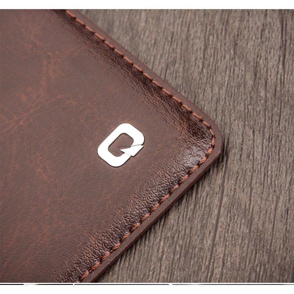 Image of   Galaxy S8 - QIALINO Classic ægte læder etui / cover - Brun