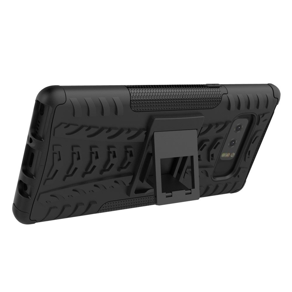 Image of   Galaxy Note 8 - hybrid cover med stand - Sort