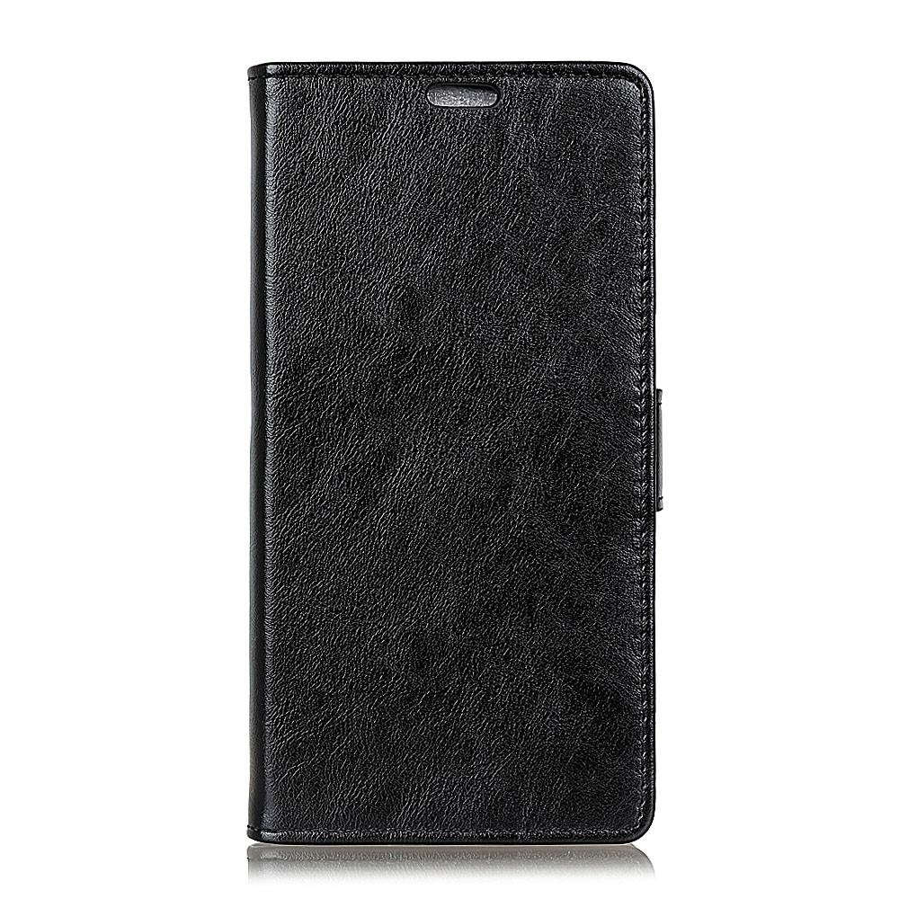 Sony Xperia L2 - Læder cover med skindmønster - Sort