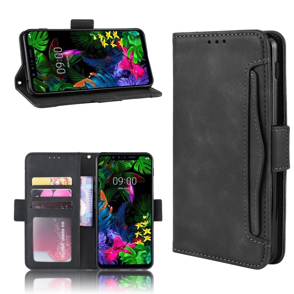 LG G8s ThinQ - Læder cover / pung med aftagelig kortholder - Sort