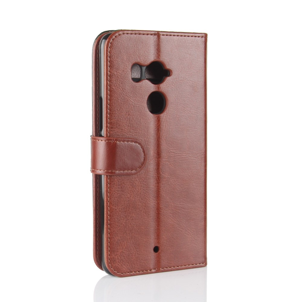 Image of   HTC U11 Plus - Læder cover / pung - Brun