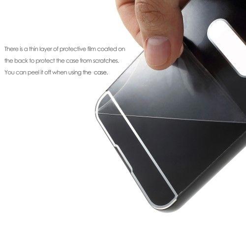 Image of   HTC U Ultra - Bumper - Metal slide on - Sort