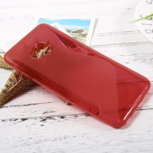 Image of   HTC U Play - TPU blødt cover med S-line design - Rød