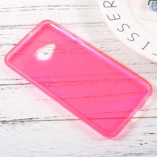 Image of   HTC U Play - TPU blødt cover med S-line design - Rose