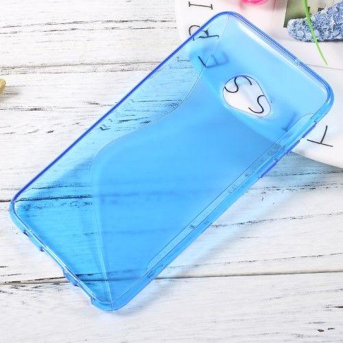 Image of   HTC U Play - TPU blødt cover med S-line design - Blå