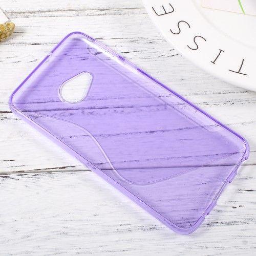 Image of   HTC U Play - TPU blødt cover med S-line design - Lilla