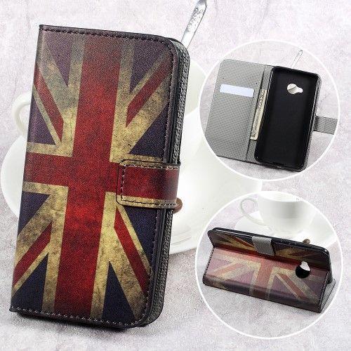 Image of   HTC U Play - Pu læder cover - The British Flag