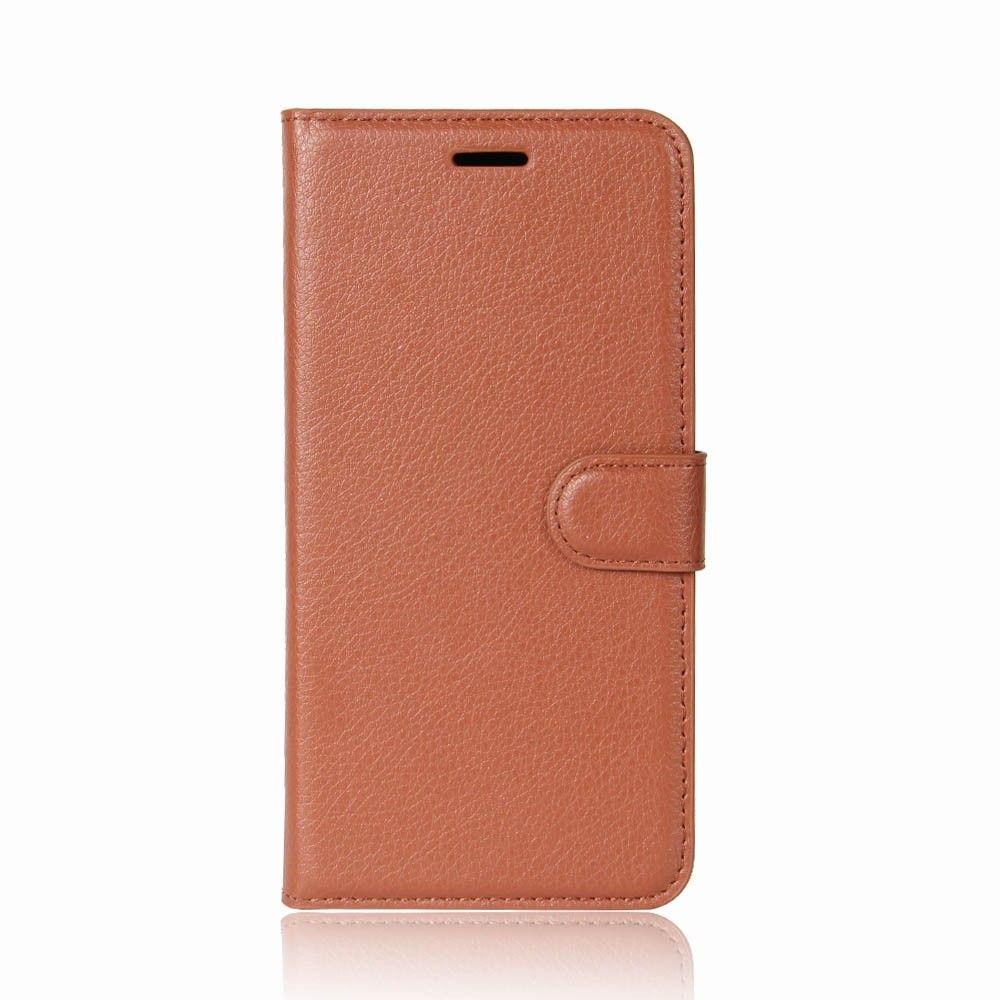 Image of   HTC U11 - læder cover / pung - Brun