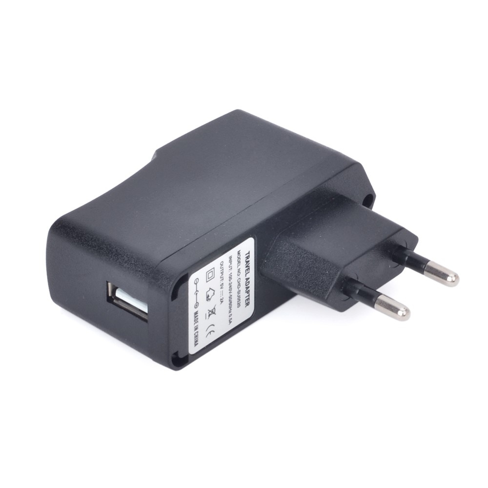 USB oplader adapter 5v/2A - Sort