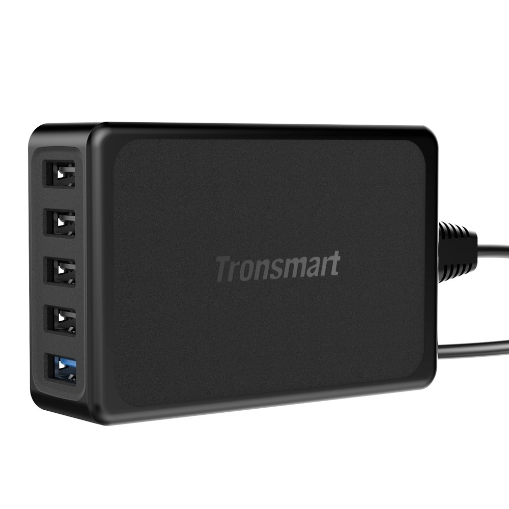 Image of   TRONSMART USB Quick charge 3.0 / VoltIQ oplader adapter med 5 porte