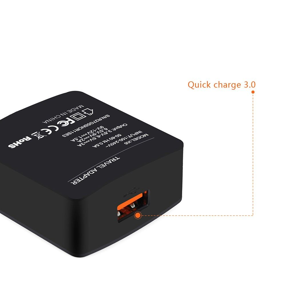 Image of   AMORUS - QUICK CHARGE Oplader inkl. USB Type-C kabel