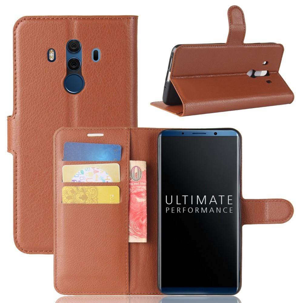 Image of   Huawei Mate 10 Pro - Læder cover / pung - Brun