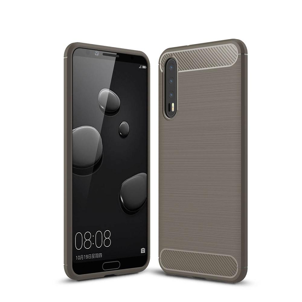 Image of   Huawei P20 Pro - Gummi cover med børstet design - Grå