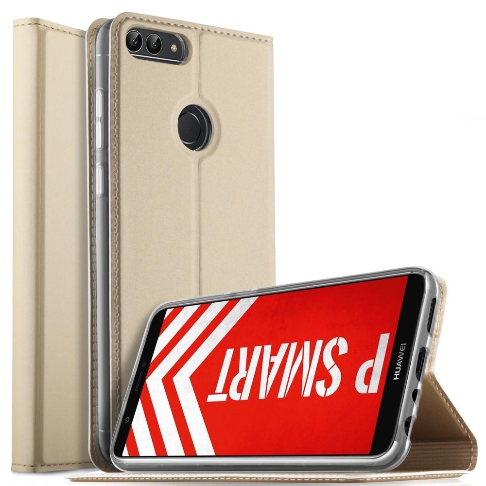 Image of   Huawei P Smart - Flip læder cover / etui - Guld