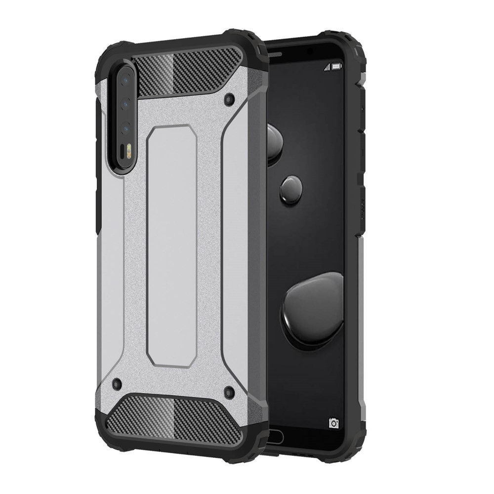 Image of   Huawei P20 Pro - Armor Guard Hybrid Cover - Grå