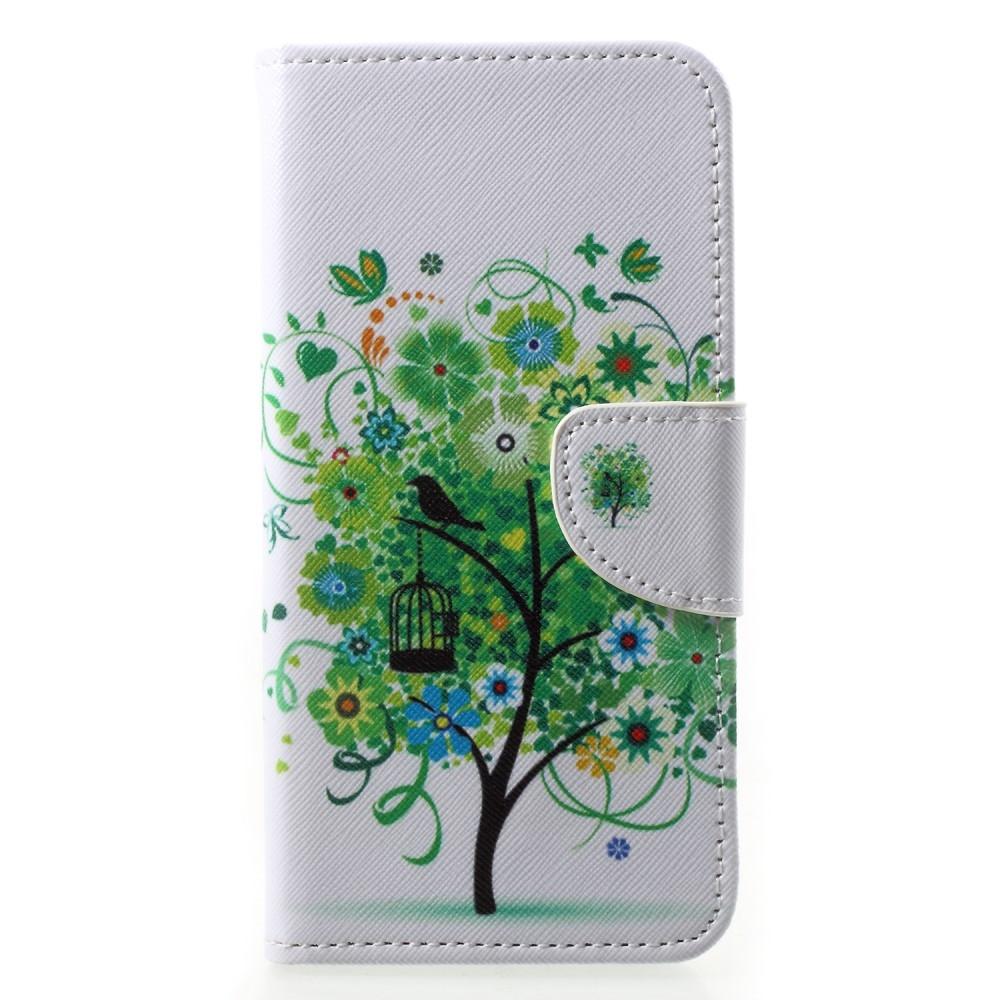 Huawei P20 Pro - Mønstret cover / pung - Grønt træ