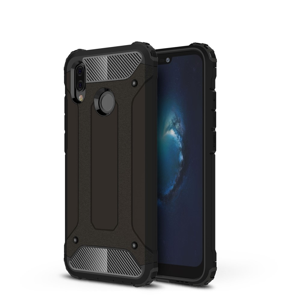 Image of   Huawei P20 Lite - Armor Guard Hybrid cover - Sort
