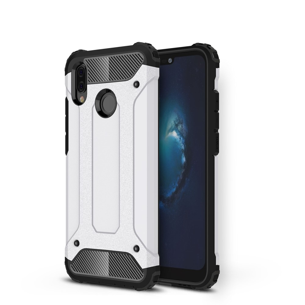 Image of   Huawei P20 Lite - Armor Guard Hybrid cover - Hvid