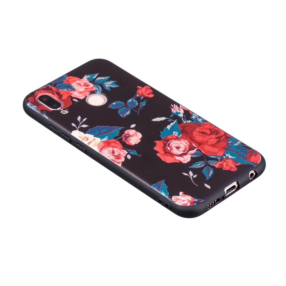 Image of   Huawei P20 Lite - Blød design gummi cover - Roser