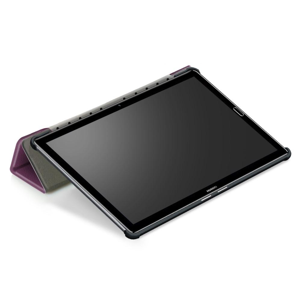 Image of   Huawei MediaPad M5 10 / M5 10 (Pro) - Læder Tri-Fold flip cover - Lilla