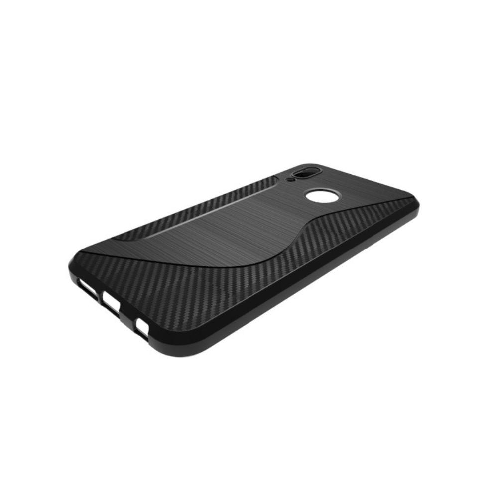 Image of   Huawei P20 Lite - Gummi cover med S-Line design - Sort